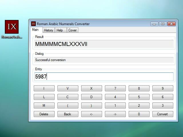 Roman arabic numerals converter convertidor de n meros for Como se escribe beta