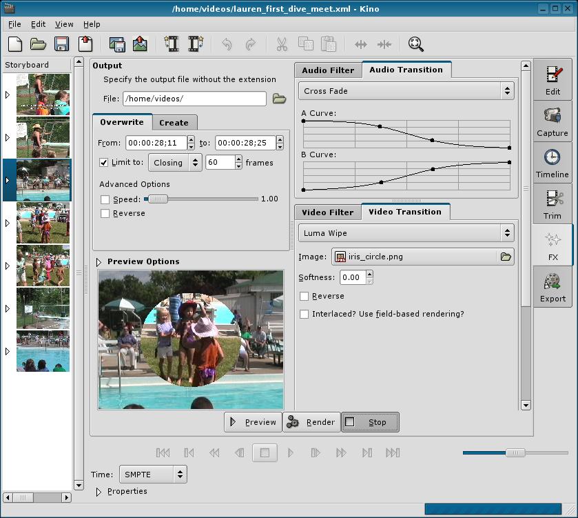 Kino Linux, un editor r�pido y sencillo | LiGNUx