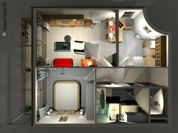 Sweet home 3d una aplicaci n libre de dise o de - Aplicacion para diseno de interiores ...