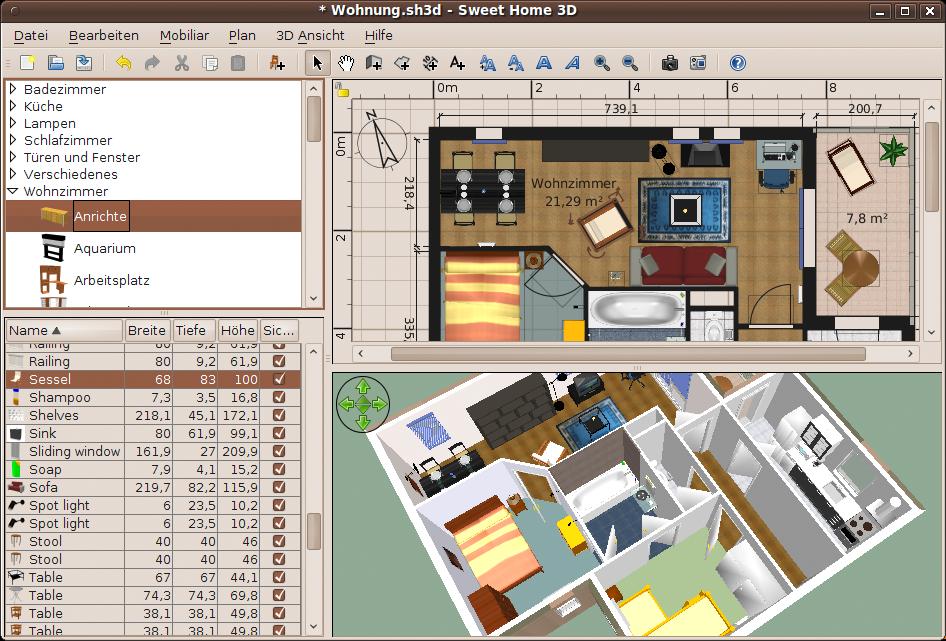 Sweet Home 3D, Una Aplicación Libre De Diseño De Interiores