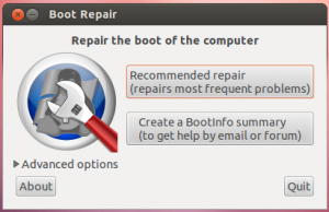 Boot Repair Grub grub2