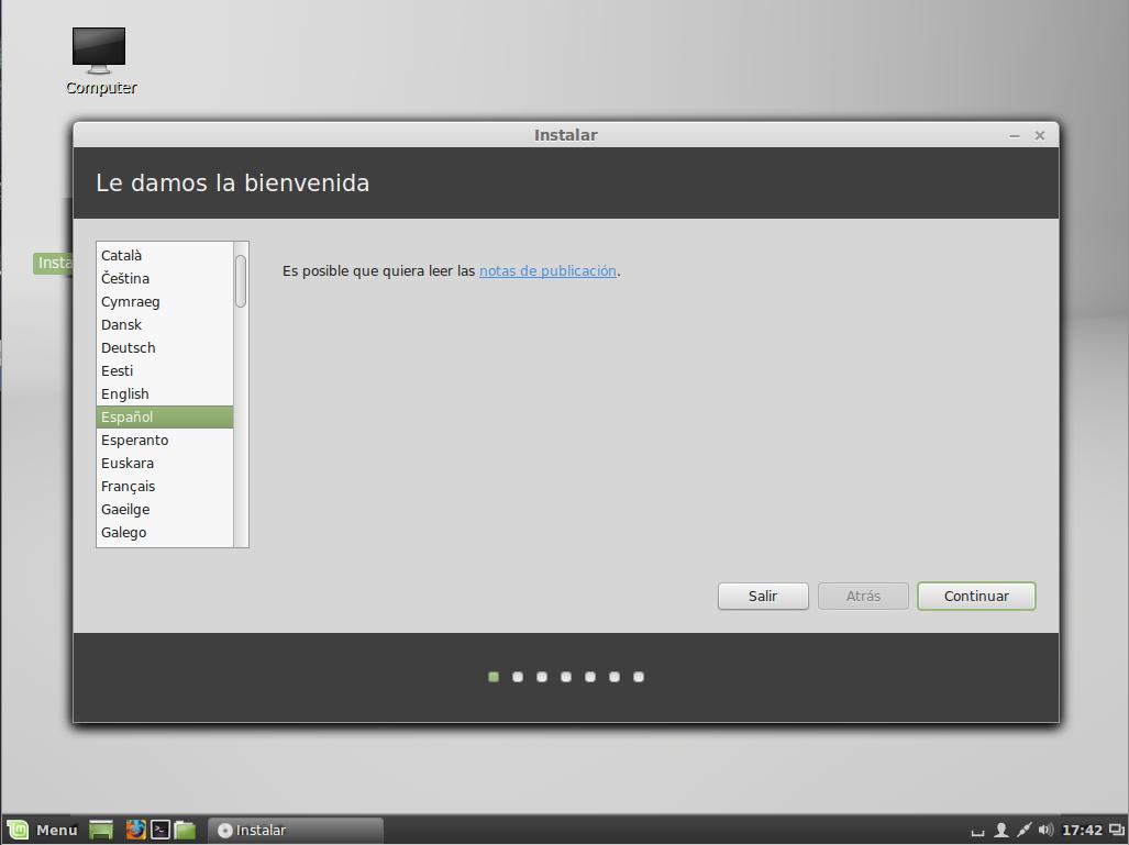 Instalar Linux Mint 17 LTS Qiana con Cinnamon