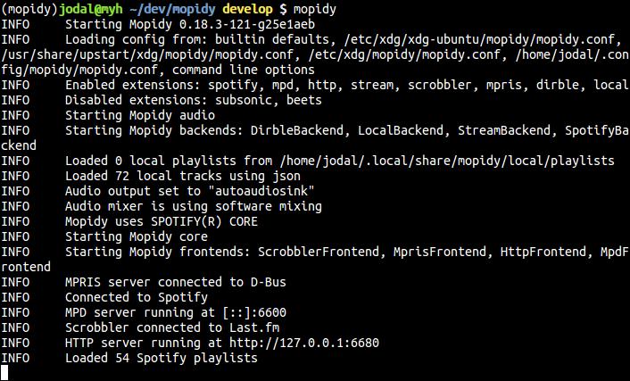 mopidy-screenshot