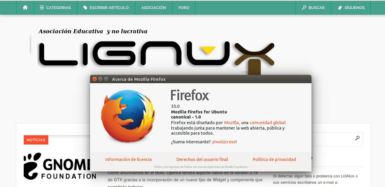 Firefox 33 LiGNUx