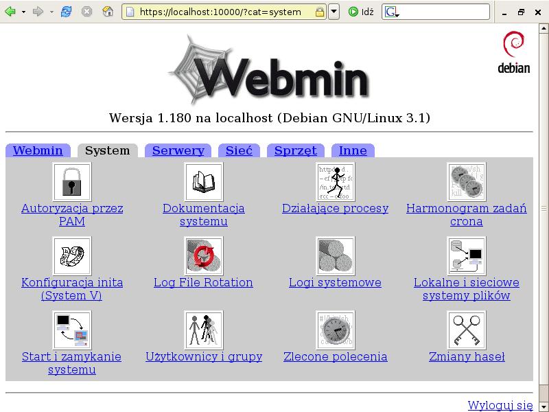 Webmin ejemplo