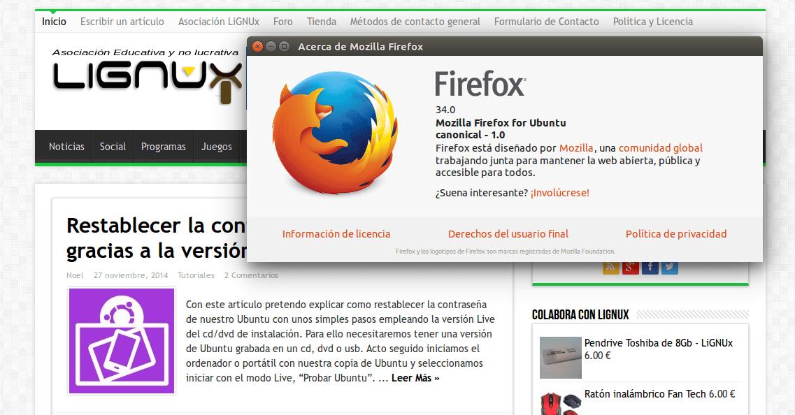 firefox 34 lignux