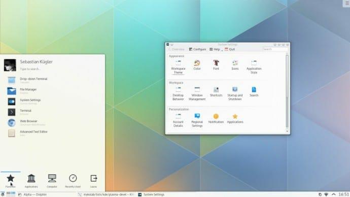 Fedora 22 con kde-plasma5.1