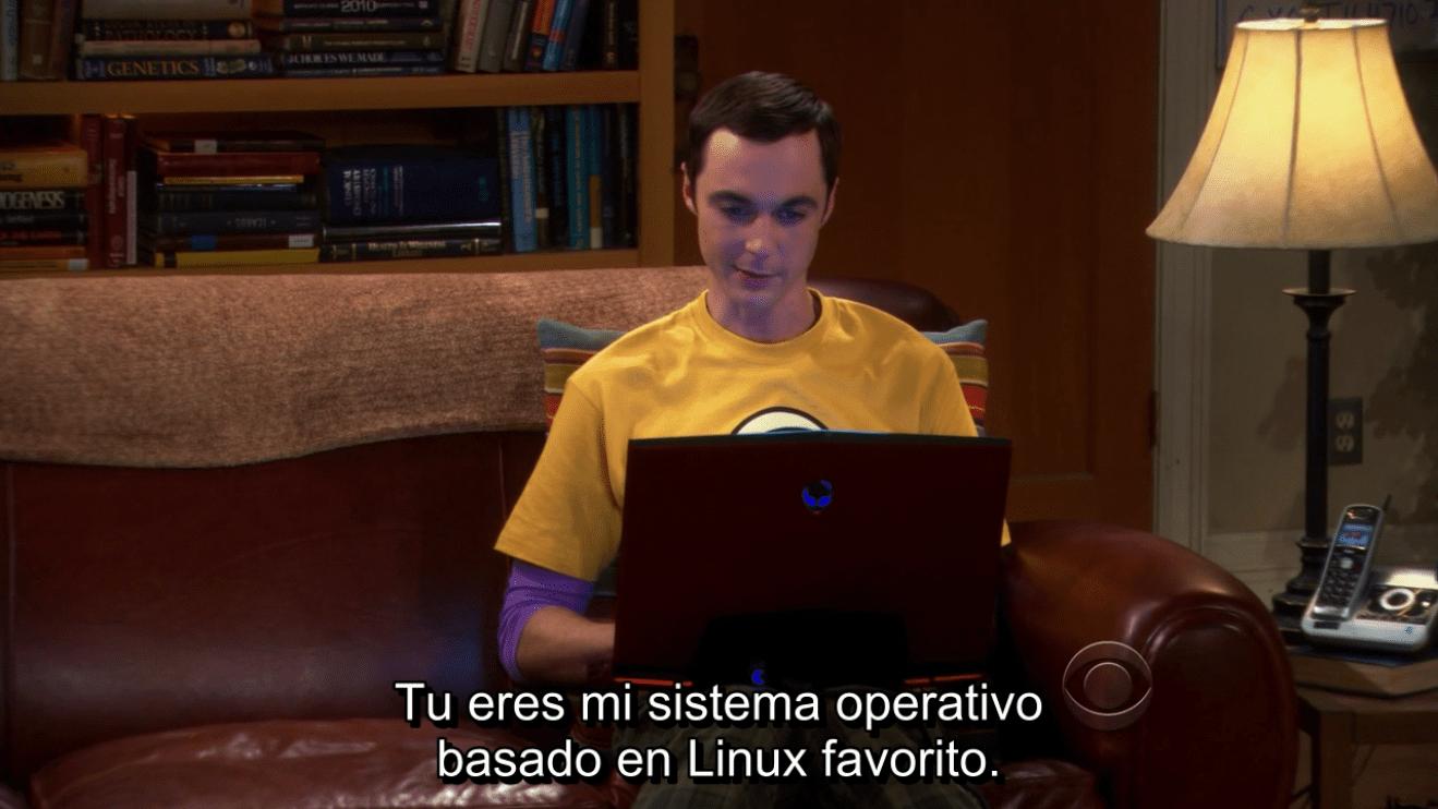 Linux en The Big Bang Theory 3x22