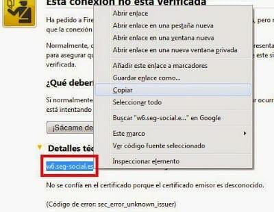 soluciona el error sec_error_unknown_issuer