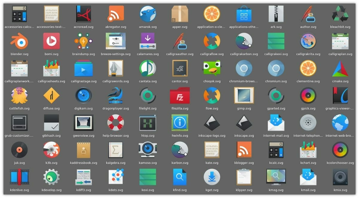 Kde Plasma 5.5 - breeze-icons