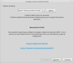 Configuración inicial de PCSX