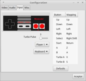 Configuración mandos