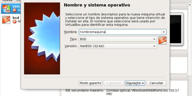 Emular e instalar NetBSD en Vbox