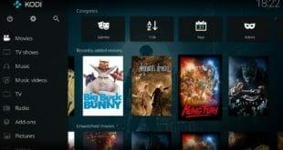 Nueva versión del centro multimedia Kodi 17.1