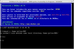 Interfaz DOSBox en Castellano