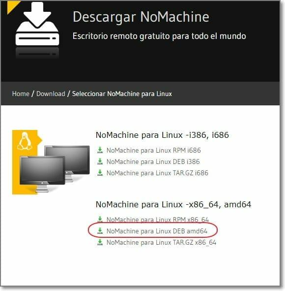 nomachine para Ubuntu