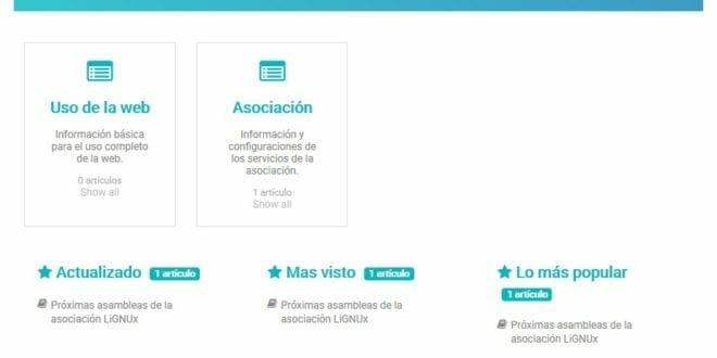 Nuevo apartado en el portal web LiGNUX: Base de conocimiento