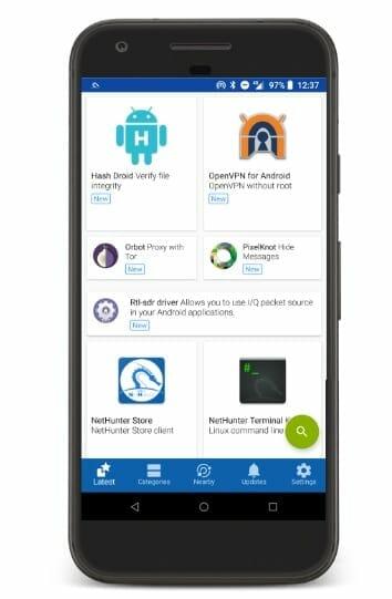App Store de Kali NetHunter para Android