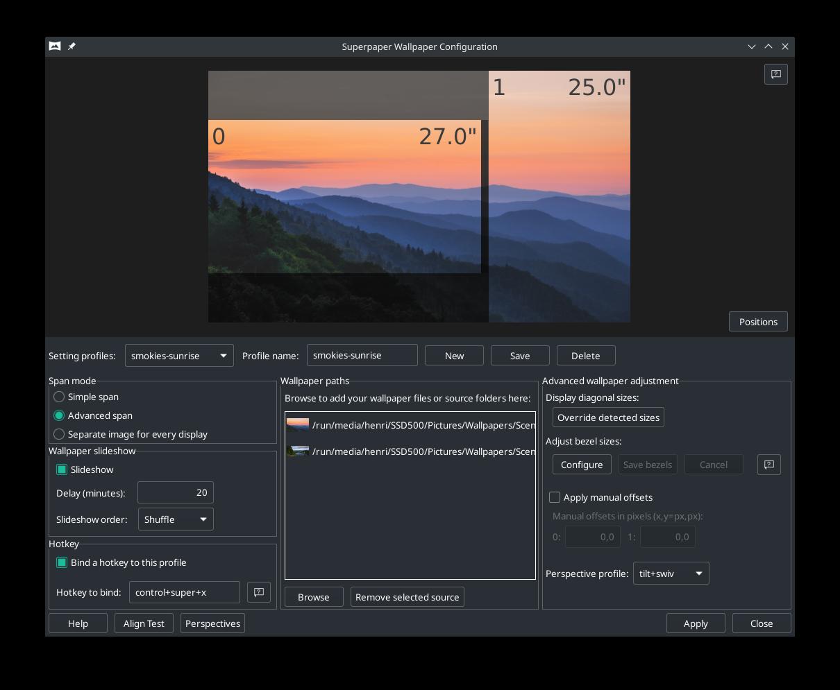 Superpaper, un administrador de fondos de pantalla con soporte para múltiples monitores   LiGNUx.com